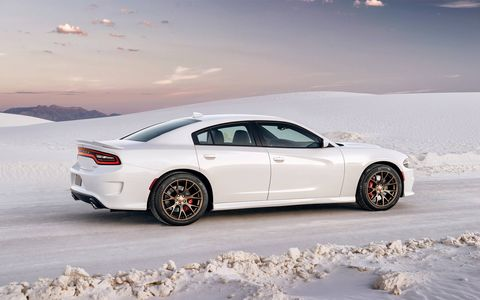 The 2015 Dodge Charger SRT Hellcat does the quarter mile in 11 seconds flat.
