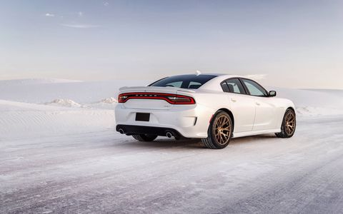 The 2015 Dodge Charger SRT Hellcat gets the same eight-speed transmission as the Challenger Hellcat.