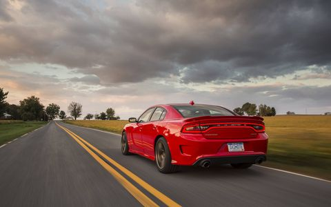 The new Charger SRT Hellcat features the supercharged 6.2-liter HEMI Hellcat V-8 engine.