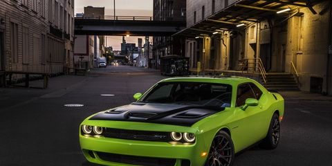 The 2015 Dodge Challenger Hellcat gets 707 hp.