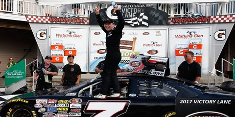 Will Rodgers collected his first NASCAR K&N Pro Series East win at Watkins Glen International Friday night.