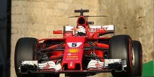 Sebastian Vettel leads the F1 championship by 14 points over Lewis Hamilton.
