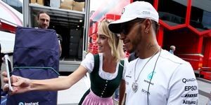 Lewis Hamilton passed on a promotional opportunity Wednesday.