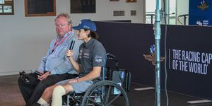 Injured Pietro Fittipaldi made it to the Indianapolis Motor Speedway on Thursday but only as a spectator.