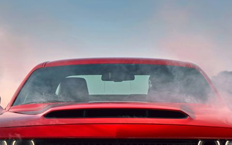 The 2018 Dodge Challenger SRT Demon's scoop is incredibly big.