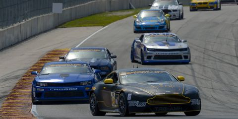 The Aston Martin, driven by Kris Wilson and Max Riddle won the Continental Tire SportsCar Challenge race in Virginia on Saturday.