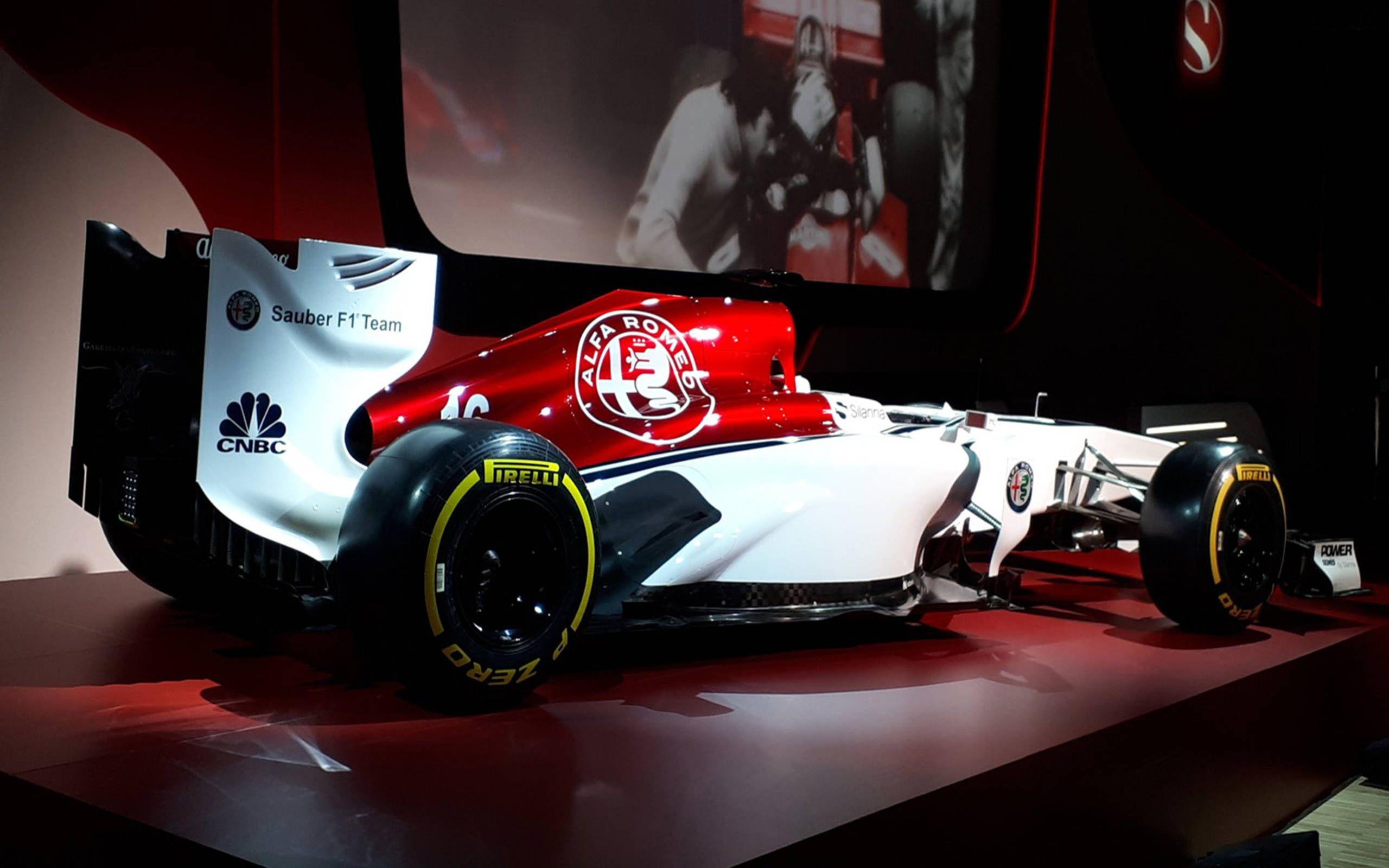 Sauber F1 Introduces 2018 Driver Lineup Shows Off New Alfa Romeo Paint Scheme