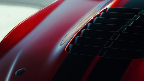 Check out the details of the 2020 Ford Mustang Shelby GT500. The five-inch exhaust tips, huge heat extractor and more.