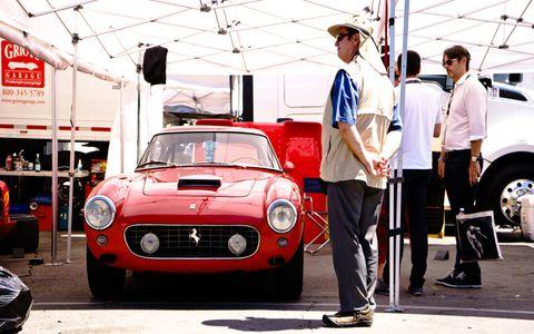 Gaze upon the majestic prow of a Ferrari 250 SWB.