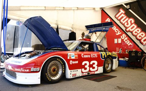 Adam Carolla brought his 1988 Nissan 300ZX that Paul Newman once raced in IMSA GT.