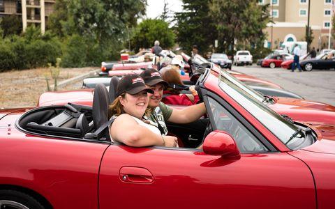 The Northwest Miata Club drove down en masse from Portland, Oregon.