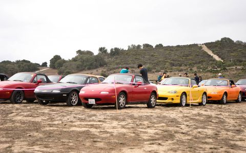 Just a small cross-section of the cars gathered Friday afternoon.