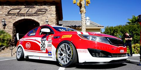 The Kia Optima Turbo from the 2014 season of the Pirelli World Challenge.