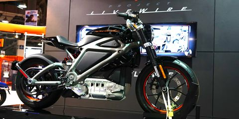 """Harley-Davidson showed off its Livewire electric motorcycle. """"We need new customers,"""" said a PR representative."""