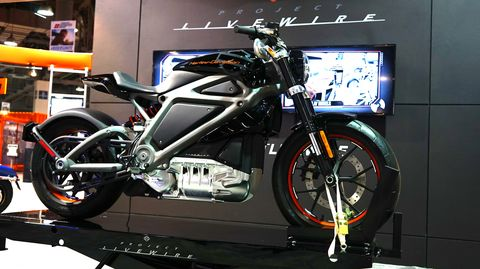 "Harley-Davidson showed off its Livewire electric motorcycle. ""We need new customers,"" said a PR representative."