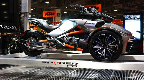 Can-Am's new Spyder F3 is a power cruiser-oriented trike.