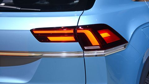 The tail lights are examples of a new design language from VW.