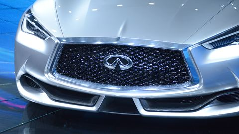 The 2015 Infiniti Q60 concept coupe is powered by a 3.0-liter direct injected and twin turbocharged V6.