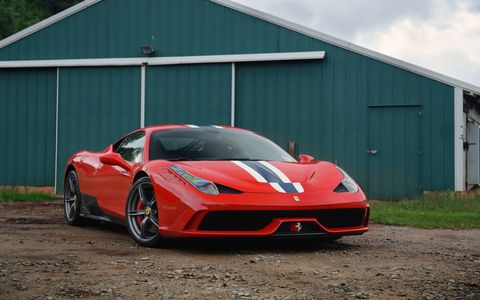 We got seat time in this gorgeous 458 Speciale with Ferrari driver Alesandro Balzan.