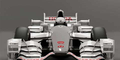 More wings than a flock of seagulls on the road course version of the 2015 Honda IndyCar aero kit.