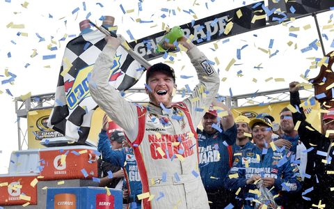 Dale Earnhardt Jr.'s win at Martinsville was his fourth of the season.