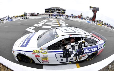 Next stop, victory lane at Pocono for Dale Earnhardt Jr.