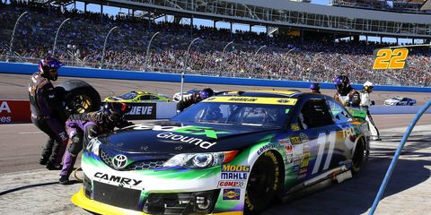 Denny Hamlin, above, has his best shot at a NASCAR Sprint Cup Series title since finishing second to Jimmie Johnson in 2010. That year, Hamlin led the Cup Series with eight victories. He has one win this year.