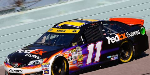Denny Hamlin finished seventh on Sunday and third in the NASCAR Sprint Cup Series championship points chase.