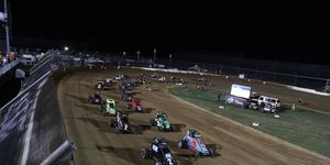 The USAC National Midgets are racing on Thursday night at the Indianapolis Motor Speedway.