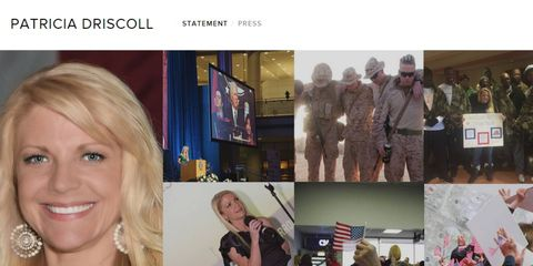 This is the main art on Patricia-Driscoll.com, a website created by Kurt Busch accuser and ex-girlfriend Patricia Driscoll.