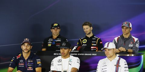 Formula One driver's press conference in Austin, Texas, for this weekend's U.S. Grand Prix.
