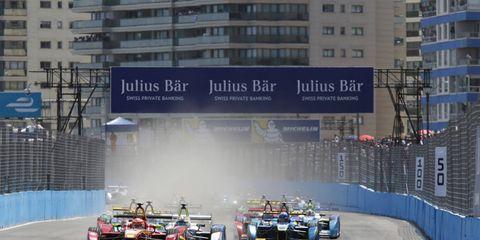 Lucas di Grassi, Sam Bird and Sebastien Buemi are winners of the first three Formula E races.
