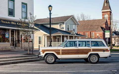 It's tough to go incognito when you're behind the wheel of a Jeep Wagoneer -- the old trucks still make a statement.