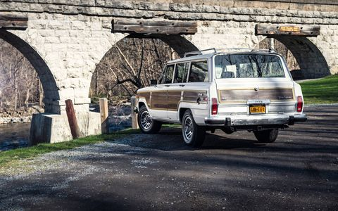 This particular Grand Wagoneer was restored by the Texas-based Wagonmaster for clothing retailer J. Crew.