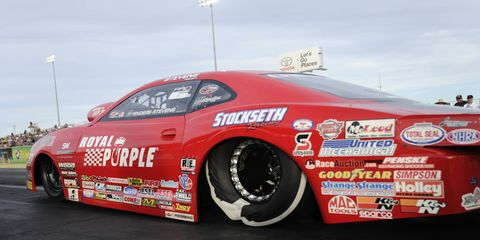 Erica Enders-Stevens leads the NHRA Pro Stock points with one race weekend remaining.