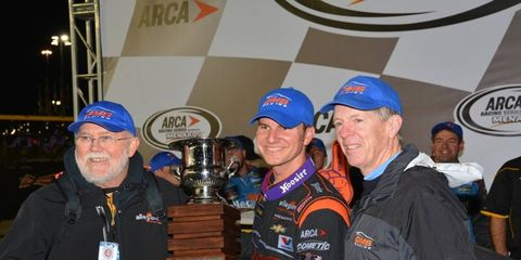 Grant Enfinger finished third on Friday, and it was more than good enough as he clinched the ARCA championship.
