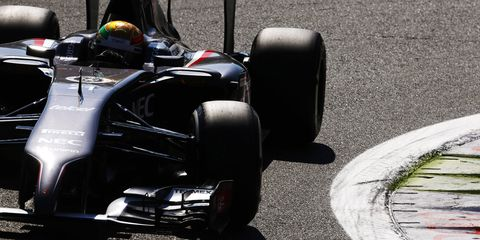 Sauber racer Esteban Gutierrez at the Italian Grand Prix in Monza, Italy.