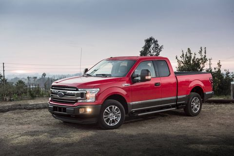 The 2018 Ford F-150 Power Stroke delivers 250 hp and 444 lb-ft of torque using a 3.0-liter turbodiesel V6.