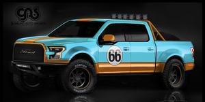 The Gulf livery looks fantastic on the Galpin F-150 for SEMA.
