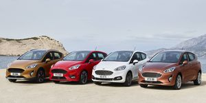 The 2018 Ford Fiesta lineup will include both three- and five-door body styles, a crossover model and a new version of the popular ST performance trim.