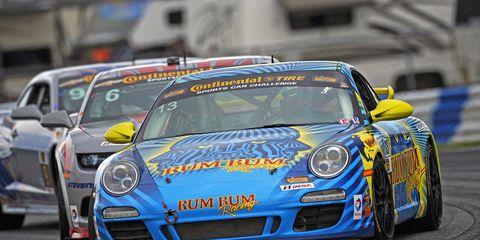 Brothers Matt and Hugh Plumb drove the No. 13 Rum Bum Racing Porsche 911 to the victory at Daytona on Friday.