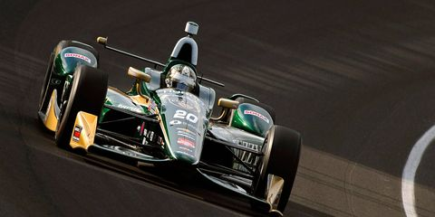 Ed Carpenter is hoping to drive his Honda-powered Dallara to the pole in Indianapolis.