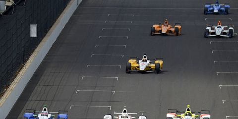 Ed Jones was racing with the leaders at the time Fernando Alonso lost an engine.