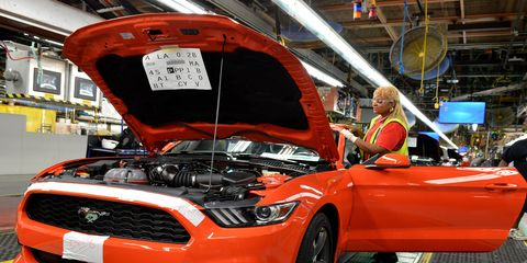 The 2015 Ford Mustang will be built at the Flat Rock Plant.