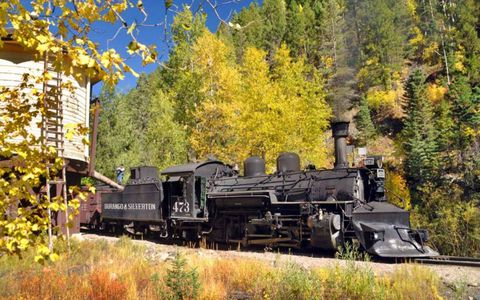 Durango Steam Train in fall colors, which are happening now.