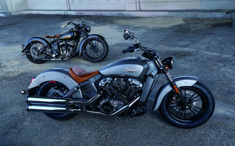 The 2015 Indian Scout is the first mass produced iteration since WWII.