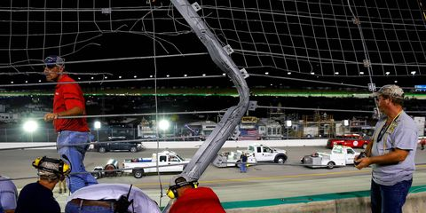 NASCAR officials say damage from Thursday night's crash would be repaired in time for Friday morning practice at Kentucky Speedway.