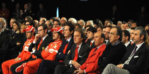 """Sergio Marchionne on Ferrari Formula One performance: """"It is essential to have a Ferrari that represents victory in F1, and this is not negotiable -- it is an absolutely clear objective and we cannot accept a situation other than this."""""""