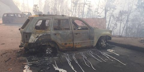 Over 15,000 acres and untold Jeep Grand Cherokees have been destroyed.