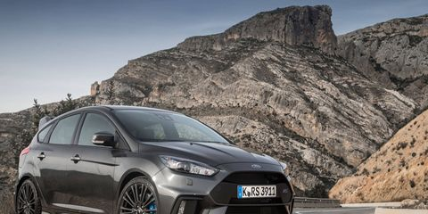 The Focus RS gets a turbocharged four making 350 hp and 350 lb-ft of torque.